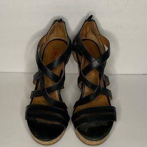 Mix mooz strappy wedge heels